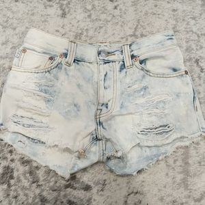 Aritizia Talula Acid wash jean shorts